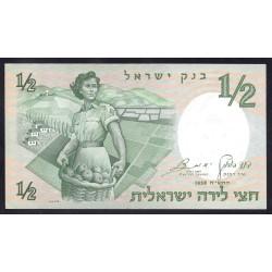 Израиль 1/2 лиры 1958 г. (ISRAEL ½ Lira 1958) P29:Unc