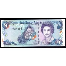 Каймановы Острова 1 доллар 2001 г. (CAYMAN ISLANDS 1 Dollar 2001) P26b:Unc