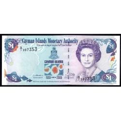 Каймановы Острова 1 доллар 2003 г. (CAYMAN ISLANDS 1 Dollar 2003) P30a:Unc
