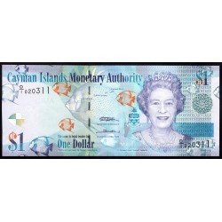 Каймановы Острова 1 доллар 2010 г. (CAYMAN ISLANDS 1 Dollar 2010) P38а:Unc