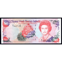 Каймановы Острова 10 долларов 2005 г. (CAYMAN ISLANDS 10 Dollars 2005) P35а:Unc