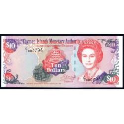 Каймановы Острова 10 долларов 1996 г. (CAYMAN ISLANDS 10 Dollars 1996) P18:Unc