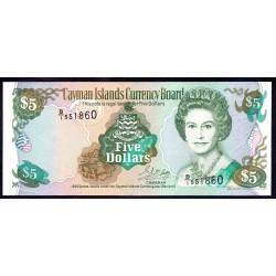 Каймановы Острова 5 долларов 1996 г. (CAYMAN ISLANDS 5 Dollars 1996) P17:Unc