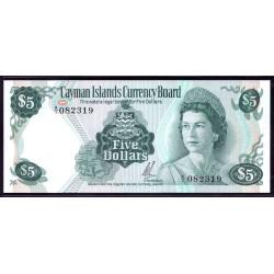 Каймановы Острова 5 долларов 1971 г. (CAYMAN ISLANDS 5 Dollars L. 1971) P2:Unc