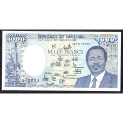 Камерун 1000 франков 1986 г. (CAMEROON 1000 Francs 1986) P26b:Unc