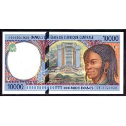 Камерун 10000 франков ND (1994 г.) (CAMEROON 10000 Francs ND (1994)) P205а:Unc