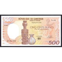 Камерун 500 франков 1985 г. (CAMEROON 500 Francs 1985) P24а:Unc