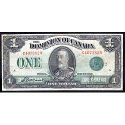 Канада 1 доллар 1923 г. (CANADA 1 dollar 1923 g.) P33с:VF+