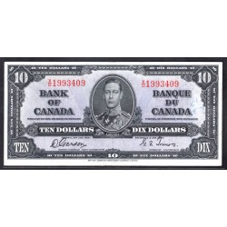 Канада 10 долларов 1937 г. (CANADA 10 dollars 1937 g.) P61:VF