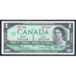 Канада 1 доллар 1967 г. (CANADA 1 dollar 1967 g.) P75:unc