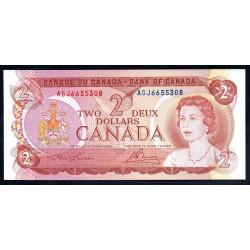 Канада 2 доллара 1974 г. (CANADA 2 dollars 1974 g.) P86а:Unc