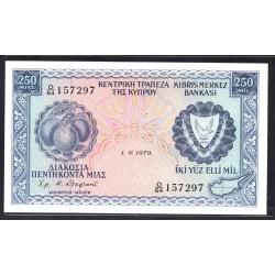 Кипр 250 милс 1979 г. (CYPRUS 250 Mils 1979) P41c:Unc