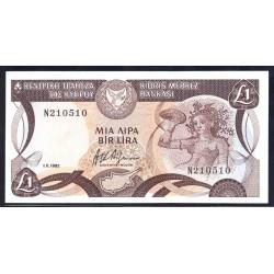 Кипр 1 фунт 1982 г. (CYPRUS 1 Pound / Lira 1982) P50:Unc