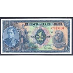 Колумбия 1 песо 1954 г. (COLOMBIA 1 peso oro 1954 g.) P380g:Unc