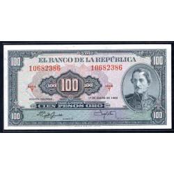 Колумбия 100 песо 1960 г. (COLOMBIA  100 pesos oro 1960 g.) P403b:Unc