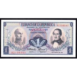 Колумбия 1 песо 1973 г. (COLOMBIA  1 pesos oro 1973 g.) P404е:Unc