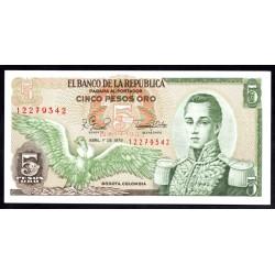 Колумбия 5 песо 1979 г. (COLOMBIA  5 pesos oro 1979 g.) P406f:Unc