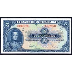 Колумбия 5 песо 1950 г. (COLOMBIA  5 pesos 1950 g.) P386е:Unc