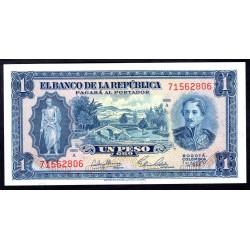 Колумбия 1 песо 1953 г. (COLOMBIA  1 peso oro 1953 g.) P398:Unc
