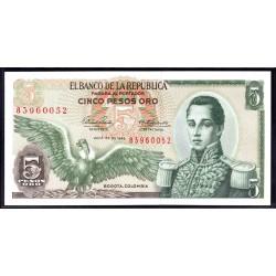 Колумбия 5 песо 1968 г. (COLOMBIA  5 pesos oro 1968 g.) P406b:Unc