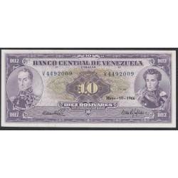 Венесуэла 10 боливаров 1966 года (Venezuela 10 Bolivares 1966) P 45c: UNC