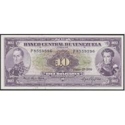 Венесуэла 10 боливаров 1970 года (Venezuela 10 Bolivares 1970) P 45g: UNC