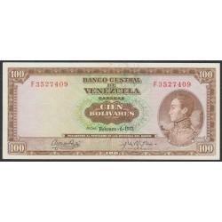 Венесуэла 100 боливаров 1973 года (Venezuela 100 Bolivares 1973) P 48i: aUNC