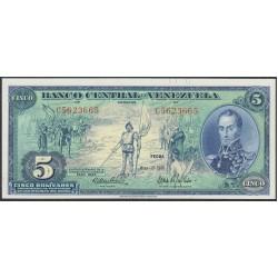 Венесуэла 5 боливаров 1966 года, префикс C (Venezuela 5 Bolivares 1966, prefix C) P 49: UNC--