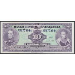 Венесуэла 10 боливаров 1977 года (Venezuela 10 Bolivares 1977) P 51f: UNC