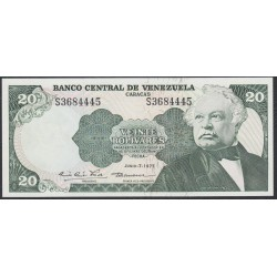 Венесуэла 20 боливаров 1977 года (Venezuela 20 Bolivares 1977) P 53b: UNC