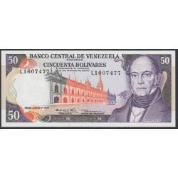 Венесуэла 50 боливаров 1977 года (Venezuela 50 Bolivares 1977) P 54d: UNC