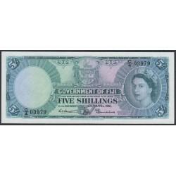 Фиджи 5 шиллингов 1961 года (FIJI  5 Shillings 1961) P 51b: UNC