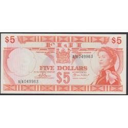Фиджи 5 долларов 1974 года (FIJI  5 dollars 1974) P 72b: UNC-/UNC