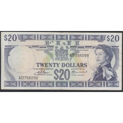 Фиджи 20 долларов 1974 года (FIJI  20 dollars 1974) P 75b: VF/XF