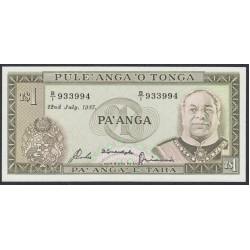 Тонга 1 па'анга 1987 года (Tonga 1 pa'anga 1987) P 19c: UNC