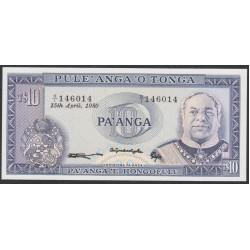 Тонга 10 па'анга 1980 года (Tonga 10 pa'anga 1980) P 22b: UNC