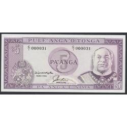 Тонга 5 па'анга 1992-95 года, Короткий номер 000031!!!! (Tonga 5 pa'anga 1992-95, Short number 000031!!!) P 27: UNC