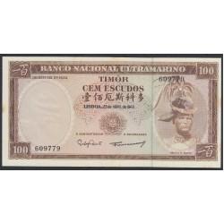 Тимор 100 эскудо 1963 года (TIMOR 100 escudos 1963) P 28a (6): UNC--
