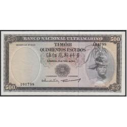 Тимор 500 эскудо 1963 года (TIMOR 500 escudos 1963) P 29a (1): XF/aUNC