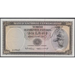 Тимор 500 эскудо 1963 года (TIMOR 500 escudos 1963) P 29a (2): UNC