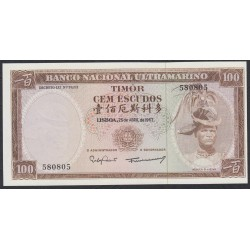 Тимор 100 эскудо 1963 года (TIMOR 100 escudos 1963) P 28a (6): UNC