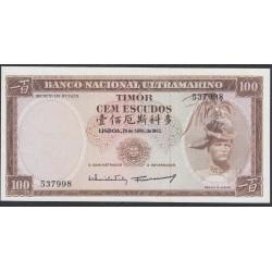 Тимор 100 эскудо 1963 года (TIMOR 100 escudos 1963) P 28a (1): UNC
