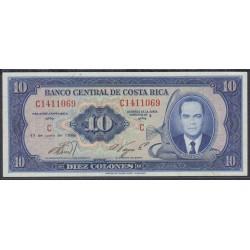 Коста Рика 10 колон 1969 г. (COSTA RICA 10 colones 1969 year) P230a:aUnc