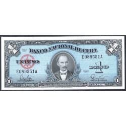Куба 1 песо 1960 год (CUBA 1 peso 1960 g.) P77b:Unc