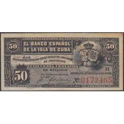 Куба 50 центаво 1896 год (CUBA 50 centavos 1896 year) P46a:Unc