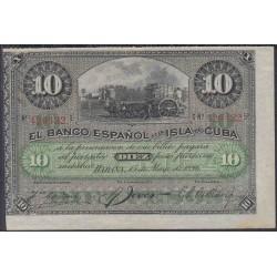 Куба 10 песо 1896 год (CUBA 10 peso 1896 year) P49c:Unc-