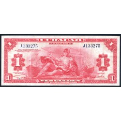 Кюрасао 1 гульден 1942 г. (CURAÇAO 1 Gulden 1942) P35:XF-