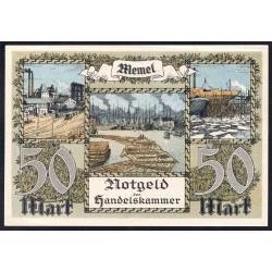 Литва 50 марок 1922 г. (Мемель Клайпеда нотгельд) (LITHUANIA 50 Mark 1922) P7а:Unc