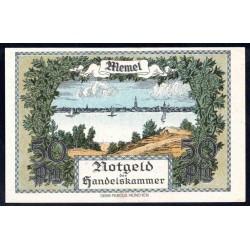 Литва 50 пфенниг 1922 г. (Мемель Клайпеда нотгельд) (LITHUANIA 50 пфенниг 1922) P2:Unc