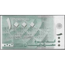 Ливан 1000 ливр 2004 г. (Lebanon 1000 livres 2004 year) P84a:Unc